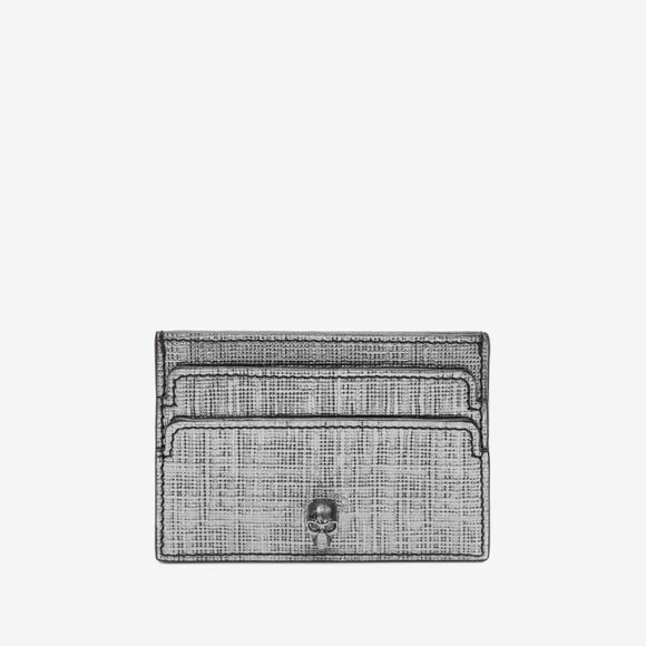 Alexander McQueen Handbags - Alexander McQueen Metallic Skull Card Holder